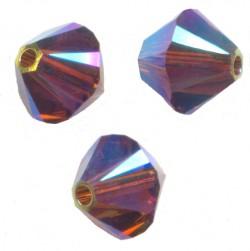 TOUPIES SWAROVSKI® ELEMENTS 4 mm SMOKED TOPAZ AB2X / 50 perles