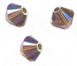 TOUPIES SWAROVSKI® ELEMENTS 4 mm SMOKY QUARTZ AB2X/ 50 perles