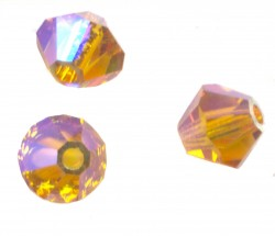 TOUPIES SWAROVSKI® ELEMENTS 4 mm TOPAZ AB2X/ 50 perles