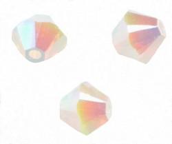 TOUPIES SWAROVSKI® ELEMENTS 4 mm WHITE OPAL AB2X/ 50 perles