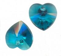 Coeur en crystal 14 mm Blue zircon X 6