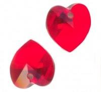 Coeur en crystal 10 mm Light siam X 10