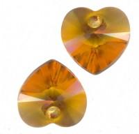 Coeur en crystal 14 mm Topaz X 6