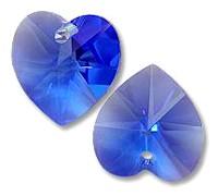 Coeur en crystal 14 mm Sapphire X 6