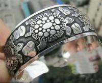 Bracelet argent tortue  Diametre 6 cm et largeur 2.2 cm