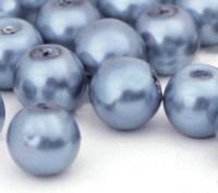 Perles Nacrée  Rondes bleu pastel 8mm X 25