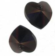 Coeur en crystal 14 mm Jet X 6