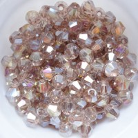 Toupies en crystal 4 mm Diamond AB X 100