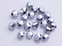 Toupies en crystal 4 mm Argent X 200