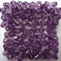 Toupies en crystal 4 mm Violet X 100