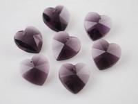 Coeur en crystal 14 mm Purple X 10