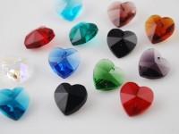 Coeur en crystal 14 mm Mixte X 10