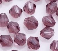 Toupies en crystal 3 mm Fuschia X 200