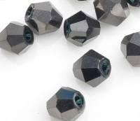 Toupies en crystal 3 mm Jet nut X 200