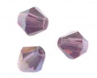 Toupies en crystal 4 mm Amethyst violet X 100