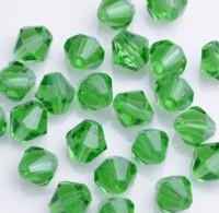 Toupies en crystal 3 mm Peridot X 200