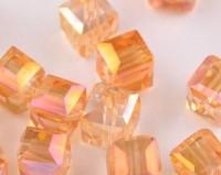 Cubes en crystal rose gold 6 mm X 25