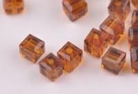 Cubes en crystal  Smoked topaz 6 mm X 25