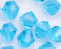 Toupies en crystal 4 mm Light sapphire X 200