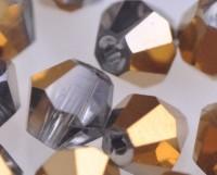 Toupies en crystal 4 mm crystal aurum X 200