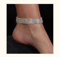 bracelet de pied 4 rangs crystal