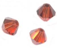 TOUPIES SWAROVSKI® ELEMENTS  4mm INDIAN RED satin 50 perles
