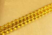 Perles 4 mm rondes en verre tchèque  Jaune Diametre du trou 1 mm X 100