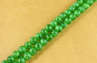 Perles 4 mm rondes en verre tchèque  Green Picasso Diametre du trou 1 mm X 100