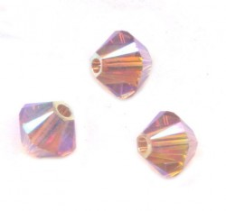TOUPIES SWAROVSKI® ELEMENTS 4 mm AB2X  BLUSH ROSE AB2X / 50 perles