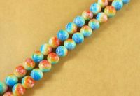 Perles rondes crystal 4 mm Diametre du trou 1 mm mixte X 100