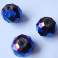 Rondelles briolettes 8 mm Dark sapphire AB X 32
