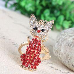 Chat ( anneau + pince accroche sac , ceinture ) 5 x 2 cm