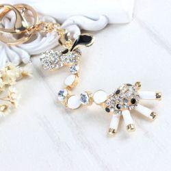 Girafle ( anneau + pince accroche sac , ceinture ) 12 x 4 cm