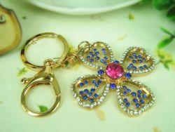 Fleur  (anneau + pince accroche sac , ceinture) 5 x 5 cm