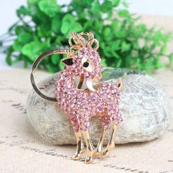 Mouflon (anneau + pince accroche sac , ceinture) 7.2 x 3.8 cm