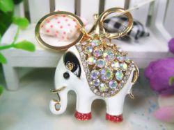 Elephant (anneau + pince accroche sac , ceinture) 4.5 x 4.5 cm