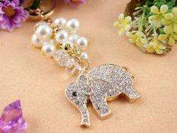 Elephant (anneau + pince accroche sac , ceinture) 4.7 x 3.7 cm