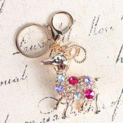 Mouflon  (anneau + pince accroche sac , ceinture) 4 x 6 cm
