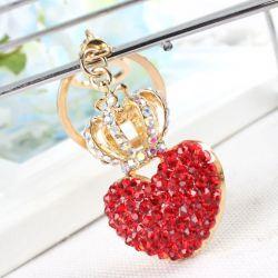 Coeur  (anneau + pince accroche sac , ceinture) 5.5 x 3.5 cm