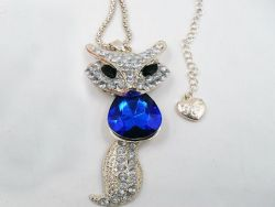 Pendant fox strass