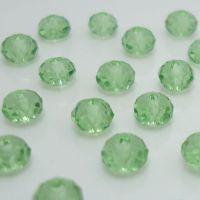 Rondelles briolettes 4 mm Green X 100