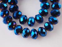 Perles cristal dark sapphire  3 x 4 mm X 148