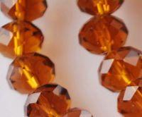 Perles cristal topaz 3 x 4 mm X 200