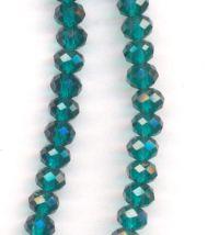 Perles cristal  6x4mm 100pcs