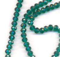 Perles  cristal 8x6mm Emerald X 70