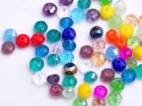 Perles cristal  mixte 3 X 4mm x 100