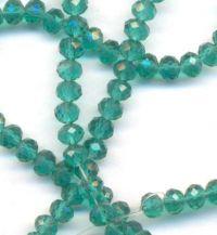 Perles cristal vert d'eau 3 X 4mm x 100