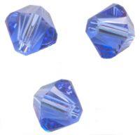 TOUPIES SWAROVSKI® ELEMENTS  8 mm Sapphire X 6 PERLES