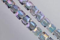 Cubes en crystal black diamond 4 mm X 50