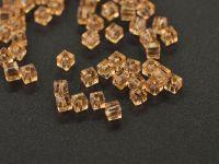 Cubes en crystal  Light gold 3 mm X 45